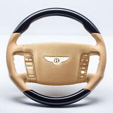 Bentley Continental GT SPORT volant Pianolack Noir OEM Cuir saffronbeige