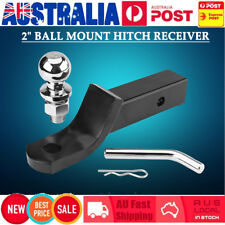 "55mm 2"" Towbar Tongue Ball Mount Hitch Tow Bar Receiver Shank for Caravan Truck"