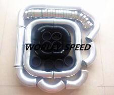 "2.5"" Aluminum Universal Intercooler Turbo Piping & Black Hose T-Clamp Kits 12pcs"