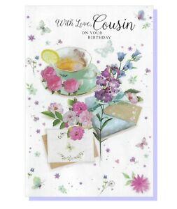 Cousin Birthday Card - Flowers Female Ladies Womens - SIMON ELVIN 28213