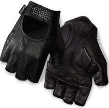 GIRO LX Black Leather Technogel Short Finger CYCLING GLOVES Medium NEW