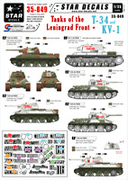 Star Decals 1/35  Tanks of the Leningrad Front: T-34 & KV-1 decals 35849 x