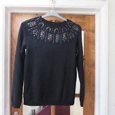 Madeleine. Black, Embelished long sleeve jumper size 10/12 New