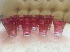 12 Vasos De Vidrio Color Hermoso