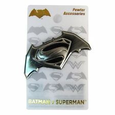 """BATMAN v SUPERMAN """"DAWN OF JUSTICE DELUXE PEWTER LAPEL PIN"""" DC Comics NEW SEALED"""