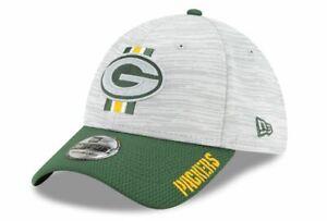 Green Bay Packers New Era 2021 NFL Training Camp 39THIRTY Flex Hat - Gray/Green