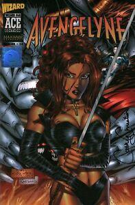 High Grade Avengelyne Wizard Ace Edition Comic Book Signed Cathy Christian w/COA
