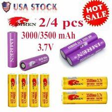 US IMR 18650 3000mAh 3500mAh 3.7V High Drain Flat Top Rechargeable Batteries US