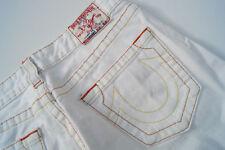 TRUE RELIGION Bobby Damen Jeans stretch Hüft Hose schlag 27/32 W27 L32 weiß #w