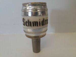 Vintage SCHMIDT'S PLASTIC BEER BARREL BEER TAP HANDLE