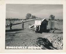 WWII 1945 US Army 10th Recon 4x5 Photo #2 President Roosevelt Bridge France?