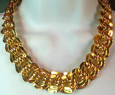 VINTAGE GOLDPLATED HEAVY CHAIN CHOKER NECKLACE BEAUTIFUL 167GR NICE