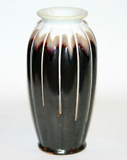 Antique Vintage Japanese Art Pottery Arts & Crafts Deco Lobed Flambe Drip Vase