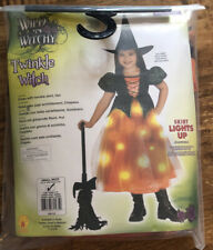 Wild N Witchy Halloween Costume Girl Size small USA 4-6 years Lights Up!