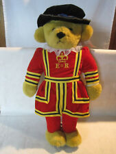 Vintage Merrythought Queen's Royal Guard Beefeater plush bear w/ tag glass eyes