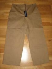 next dark beige wide leg crop trousers size 22 long leg 26 brand new with tag
