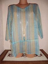 Gestreifte Damenblusen, - tops & -shirts mit V-Ausschnitt in Größe 38
