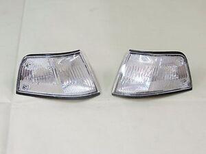 CHROM Corner Lamp Light LH RH Pair For HONDA 1988-1989 3DR Civic EF9 ED 4th