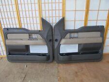 09-14 Ford F150 Pickup Left & Right Interior Door Panel Set 2-TONE BROWN & TAN