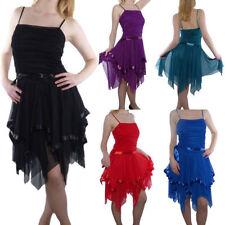 Knielange Damenkleider mit Trägern S