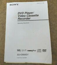 More details for sony slv-d950gi,dvd / video  cassette player / recorder. #operating instruction#
