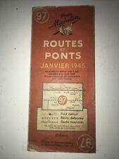 Ancienne Carte Routière Michelin Numéro 97 Routes Et Ponts 1945 Période Guerre