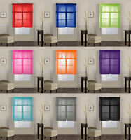 3 Piece Solid Sheer Voile Kitchen Window Curtain Tier & Valance Set