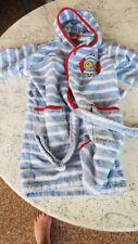 Blauer Kinderbademantel 100 % Baumwolle Jako-o Gr. 80 86 92 98