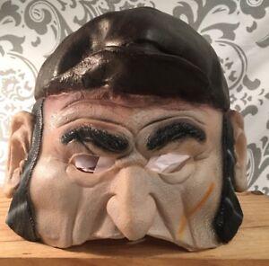 Ben Cooper Psycho Old Man Lumberjack Rubber Latex Halloween Mask Rare HTF