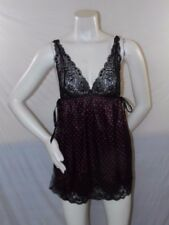 IN BLOOM by Jonquil VDH285R Satin & Lace Chemise Slip Black/Red S