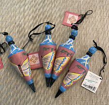Midwest of Cannon Falls 1997 Tracy Porter Wooden Ornament Lot of 4 Butterfly