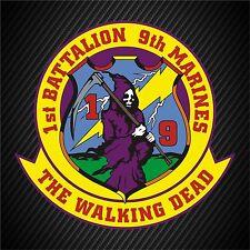 "1 - 10""x10"" USMC 1st Battalion 9th Marines Insignia Military Decal Sticker Car"
