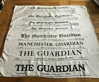 Vintage The Guardian Masthead Silk? Scarf 1821-1969 Social History Collectable