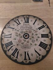 Large New England Wood Clock Face Plate  Parts or Repair