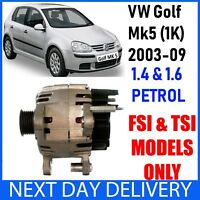 VW GOLF MK5 1K 1.4 & 1.6 PETROL TSI FSI 2003-2009 NEW 110A ALTERNATOR