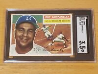 1956 Topps #101 Roy Campanella SGC 3.5 HOF New Label Recently Graded Gem