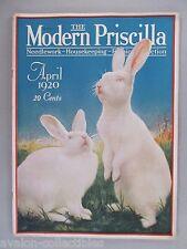 Modern Priscilla - April, 1920 ~~ Easter bunnies