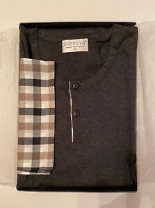 Novila Pyjama, Gr. 56, Grau/Kariert