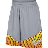 Nike Men's Elite Reveal Basketball Shorts 718386-013 S Grey Orange Dri-FIT NWT