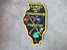vintage 1950 Illinois Dep of Conservation Forestry Fisheries police patch #2