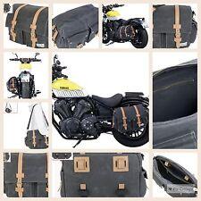 Tasche Satteltasche Seite Canvas Moto Vintage Retro Oldtimer Honda BMW-Triumph