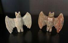 Carved Soapstone Bat Fetish Totem Spirit Animal – Large
