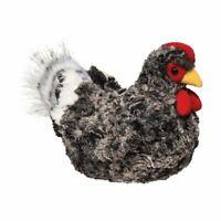 PEPPER the Plush BLACK CHICKEN Hen Stuffed Animal - Douglas Cuddle Toys - #1785