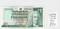 Paper Money - Scotland - 24-1-1996 - 1 Pound Sterling - P-351 - UNC
