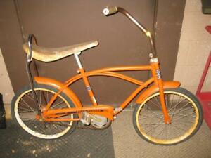 HEMI ORANGE ROADRUNNER MUSCLE BIKE BANANA SEAT BICYCLE ORIGINAL MOPAR