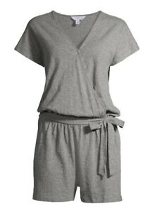 Time and Tru Women's Knit Romper CLASSIC GRAY Size 1XL (16 -18) *New With Tags*