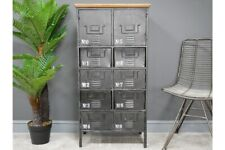 Industrial Locker Style Cupboard / Drawer Metal Retro Storage Furniture