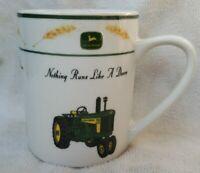John Deere Nothing Runs Like A Deere Mug Cup Gibson White Wheat Leaf Tractors
