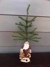 UNIQUE Tabletop Christmas Tree w/ Old World Santa Figurine Base