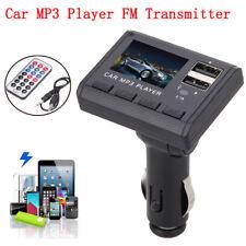 Car MP3 Player FM Transmitter Modulator Dual USB Charging SD MMC Remote Control
